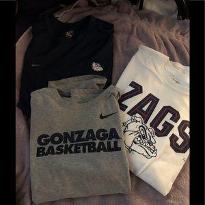 3 Gonzaga T-shirt's